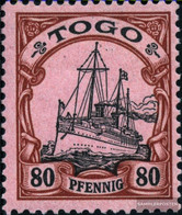 Togo (German. Colony) 15 With Hinge 1900 Ship Imperial Yacht Hohenzollern - Colony: Togo