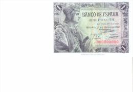 SPAIN 1943 - REPLICA REPRODUCCION -FERNANDO EL CATOLICO -DESCUBRIMIENTO AMERICA PAPER BILL OF 1 PTA ISSUED MAY 21, 1943 - [ 8] Falsi & Saggi