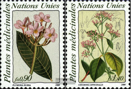 UN - Geneva 186-187 (complete Issue) Unmounted Mint / Never Hinged 1990 Medicinal Plants - Geneva - United Nations Office