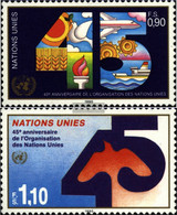 UN - Geneva 188-189 (complete Issue) Unmounted Mint / Never Hinged 1990 45 Years UN - Geneva - United Nations Office