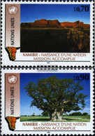 UN - Geneva 198-199 (complete Issue) Unmounted Mint / Never Hinged 1991 Namibia - Geneva - United Nations Office