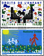 UN - Geneva 202-203 (complete Issue) Unmounted Mint / Never Hinged 1991 Rights Of Kinof - Geneva - United Nations Office