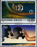 UN - Geneva 204-205 (complete.issue.) Unmounted Mint / Never Hinged 1991 Prohibition Chemical Weapons - Geneva - United Nations Office