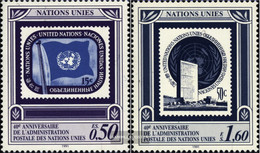 UN - Geneva 206-207 (complete Issue) Unmounted Mint / Never Hinged 1991 Postal Administration - Geneva - United Nations Office
