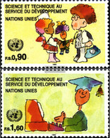 UN - Geneva 221-222 (complete Issue) Unmounted Mint / Never Hinged 1992 Science And Development - Geneva - United Nations Office