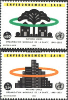 UN - Geneva 231-232 (complete Issue) Unmounted Mint / Never Hinged 1993 Healthy Environment - Geneva - United Nations Office