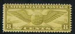 319585932 USA MET SCHARNIER HINGED POSTFRISCH MIT FALZ SCOTT C17 WINGED GLOBE - Air Mail