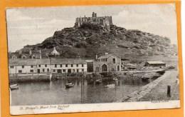 St Michaels Mount 1906 Postcard - St Michael's Mount