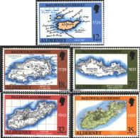 United Kingdom - Alderney 37-41 (complete Issue) Unmounted Mint / Never Hinged 1989 Maps - Alderney