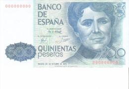 SPAIN 1979- REPLICA REPRODUCCION -ROSALIA DE CASTRO - POET WRITER PAPER BILL OF 500 PTAS ISSUED OCT 23, 1979, RE 13.2 P - [ 8] Falsi & Saggi
