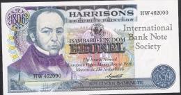 HARRISONS SPECIMEN BANKNOTE IBNS OVERPRINT 1990   UNC. - Bankbiljetten
