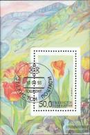 Uzbekistan Block2 (complete.issue.) Fine Used / Cancelled 1993 Locals Flora - Uzbekistan
