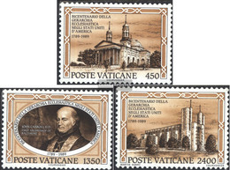 Vatikanstadt 993-995 (complete Issue) Unmounted Mint / Never Hinged 1989 Catholic Diocese - Vatican