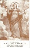 SANTINO  B.V. DELLE GRAZIE VENERATA NELLA CHIESA DI S. SAVINO DI FUSIGNANO - Santini