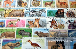 Africa 100 Different African Animals Stamps - Stamps