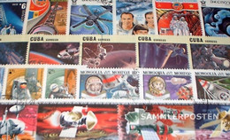 Motives 150 Different Space And Missile Stamps - Space