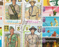 Motives 50 Different Scouts Stamps - Scouting