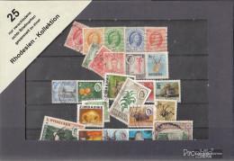 Rhodesien 25 Different Rhodesien Stamps - Quiralu