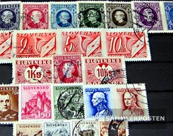 Slovakia 25 Different Stamps  Until 1945 - Slovakia