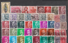Spain 50 Different Stamps - Collections