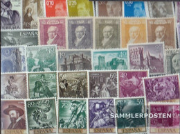 Spain 50 Different Stamps Unmounted Mint / Never Hinged - Collections