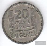 Algeria Km-number. : 91 1949 Very Fine Copper-Nickel Very Fine 1949 20 Francs Laureate - Algeria