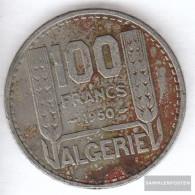 Algeria Km-number. : 93 1950 Very Fine Copper-Nickel Very Fine 1950 100 Francs Laureate - Algeria