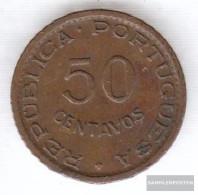 Angola 75 1954 Very Fine Bronze Very Fine 1954 50 Centavos Crest - Angola