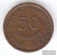 Angola 75 1961 Very Fine Bronze Very Fine 1961 50 Centavos Crest - Angola