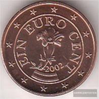 Austria O 1 2002 Stgl./unzirkuliert Stgl./unzirkuliert 2002 Kursmünze 1 Cent - Austria