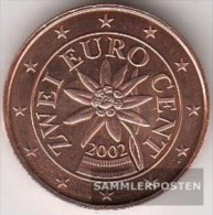 Austria O 2 2002 Stgl./unzirkuliert Stgl./unzirkuliert 2002 Kursmünze 2 Cent - Austria