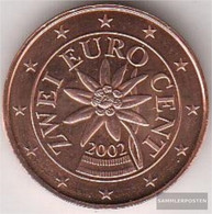Austria O 2 2003 Stgl./unzirkuliert Stgl./unzirkuliert 2003 Kursmünze 2 Cent - Austria