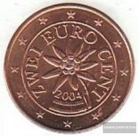 Austria O 2 2004 Stgl./unzirkuliert Stgl./unzirkuliert 2004 Kursmünze 2 Cent - Austria