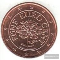 Austria O 3 2004 Stgl./unzirkuliert Stgl./unzirkuliert 2004 Kursmünze 5 Cent - Austria