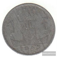 Belgium Km-number. : 127 1943 Very Fine Zinc Very Fine 1943 1 Franc Leo On Shield - 1934-1945: Leopold III