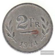 Belgium Km-number. : 133 1944 Very Fine Iron Verzinkt Very Fine 1944 2 Francs Allied Besetzungsausgab - 1934-1945: Leopold III