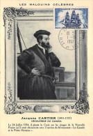 ¤¤  -  H. 25  -  SAINT-MALO  -  Carte Avec Oblitération De 1957 Pour L'Anniversaire De La Mort De Jacques CARTIER  -  ¤¤ - Saint Malo