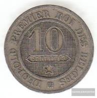 Belgium Km-number. : 22 1861 Very Fine Copper-Nickel Very Fine 1861 10 Centines Leo In District - 1831-1865: Léopold I