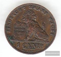 Belgium Km-number. : 34 1894 Very Fine Copper Very Fine 1894 1 Centime Sitting Leo - 1865-1909: Leopold II