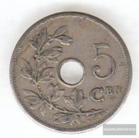 Belgium Km-number. : 55 1906 Very Fine Copper-Nickel Very Fine 1906 5 Centimes Gekröntes Monogram - 1865-1909: Leopold II