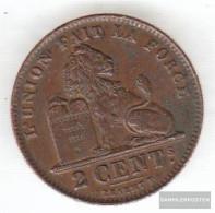 Belgium Km-number. : 64 1912 Very Fine Copper Very Fine 1912 2 Centimes Sitting Leo - 02. 2 Centimes