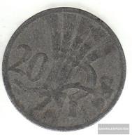 Bohemia And Moravia Jägernr: 621 1941 Very Fine Zinc Very Fine 1941 20 Bright Wappenlöwe - [ 4] 1933-1945 : Tercer Reich