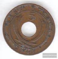 British. Eastern Africa And Uganda 25 1941 Very Fine Bronze Very Fine 1941 5 Cents George VI. - Africa Orientale E Protettorato D'Uganda