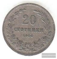 Bulgaria Km-number. : 26 1906 Very Fine Copper-Nickel Very Fine 1906 20 Stotinki Crest - Bulgaria