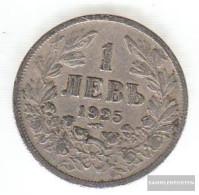 Bulgaria Km-number. : 37 1925 Very Fine Copper-Nickel Very Fine 1925 1 Lev Crest - Bulgaria