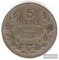 Bulgaria Km-number. : 39 1930 Very Fine Copper-Nickel Very Fine 1930 5 Leva Reiter - Bulgaria