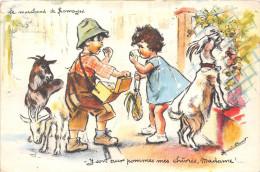 """¤¤  -  Ilustrateur  - """" Germaine BOURET """"  -    Le Marchand De Fromage   -   Chèvres   -  ¤¤ - Bouret, Germaine"""