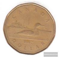 Canada Km-number. : 157 1989 Very Fine Nickel, Bronze Plattiert Very Fine 1989 1 US Dollars Elizabeth II. - Canada