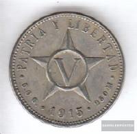 Cuba Km-number. : 11 1946 Very Fine Copper-Nickel Very Fine 1946 5 Centavos Crest - Cuba