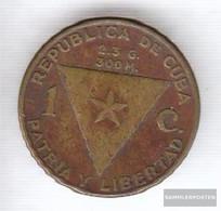 Cuba Km-number. : 26 1953 Very Fine Brass Very Fine 1953 1 Centavo Marti - Cuba